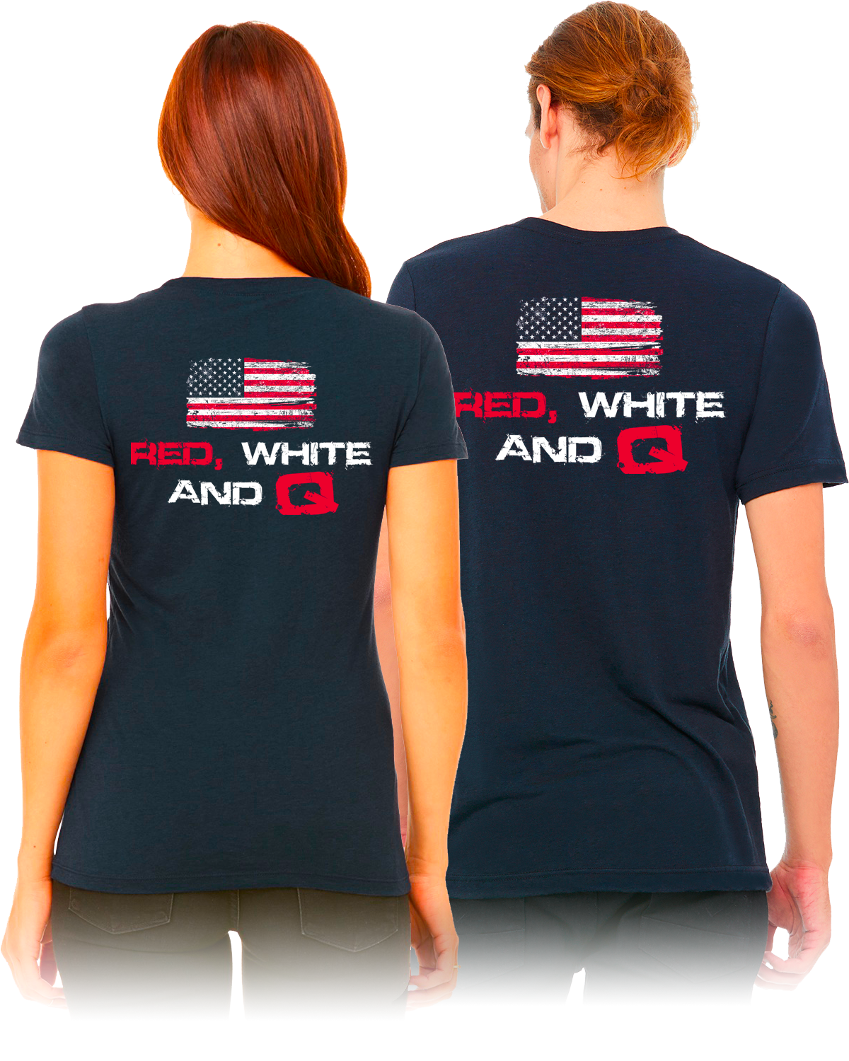 women's 'red white and q' front shirt